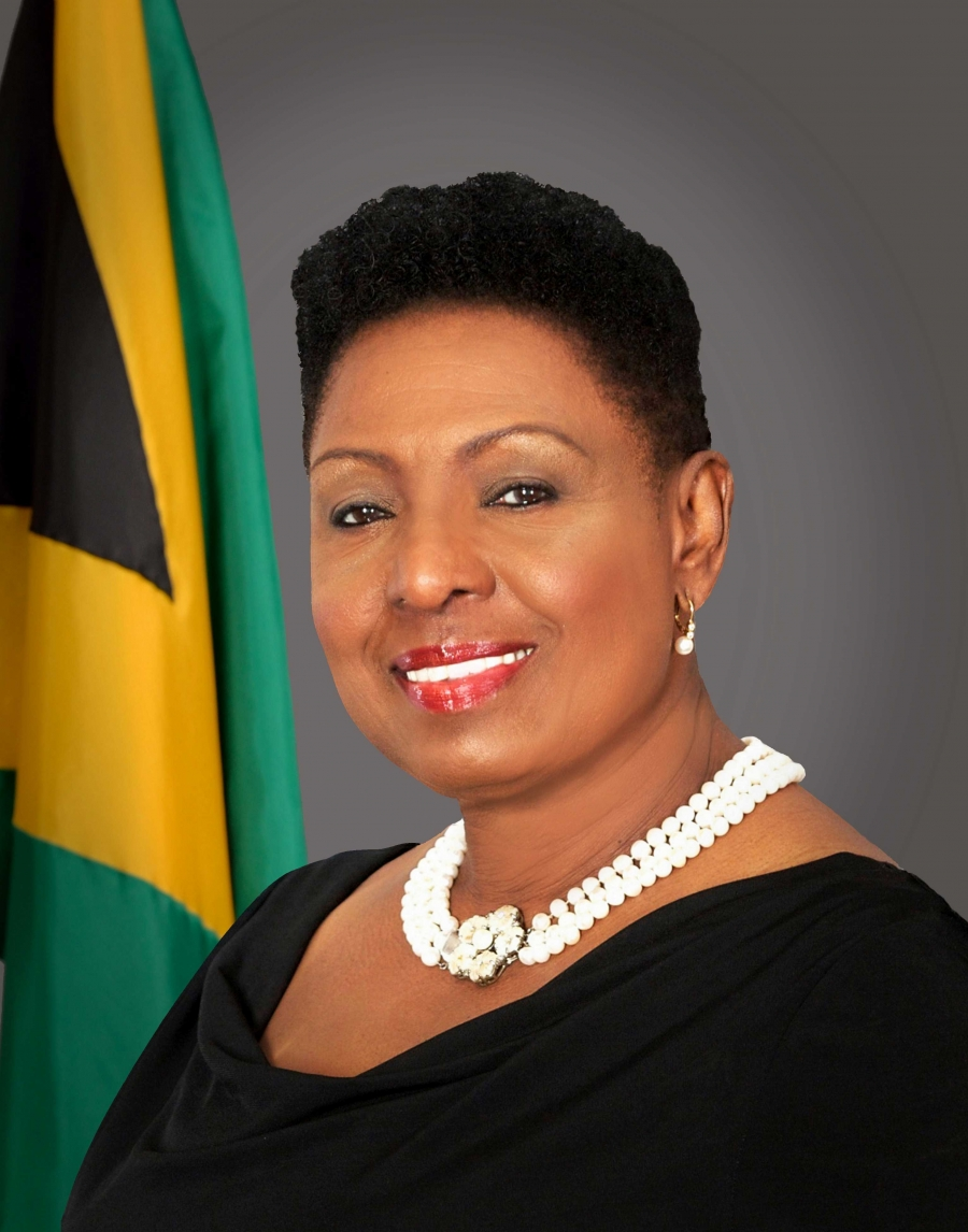 The Honourable Olivia Grange, CD, MP