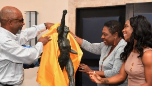 The unveiling of the maquette of statue in tribute to Shelly Ann Fraser Pryce