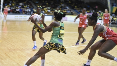 Jamaica's Sunshine Girls in their first match against England in the Sunshine Series