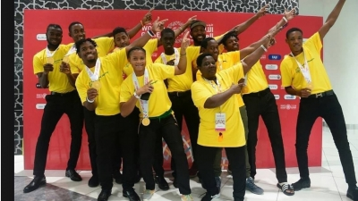Members of Jamaica's team to the Special Olympics in Abu Dhabi