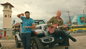 Shaggy and Sting from the 'Don't Make Me Wait' music video