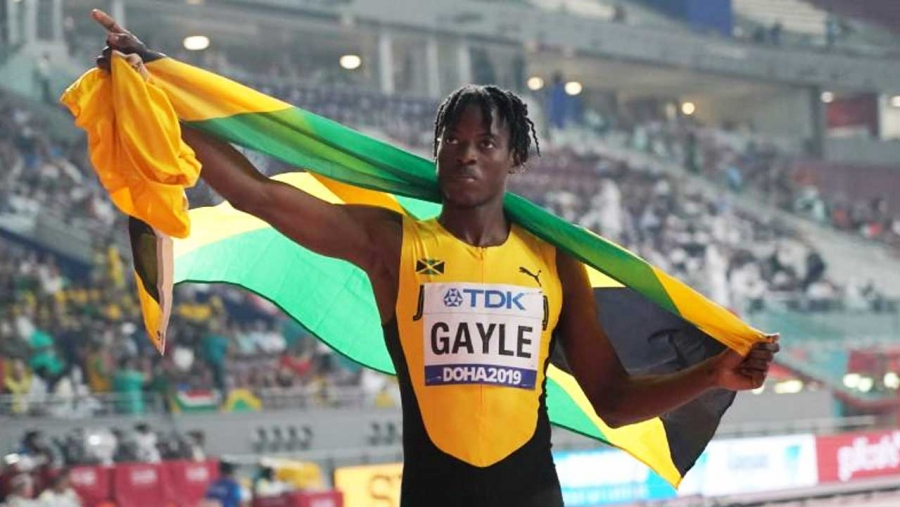 Tajay Gayle, Jamaica's first world long-jump champion