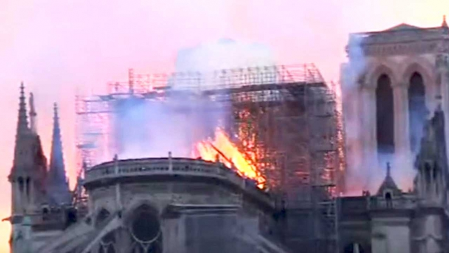 Grange sad at Notre-Dame fire