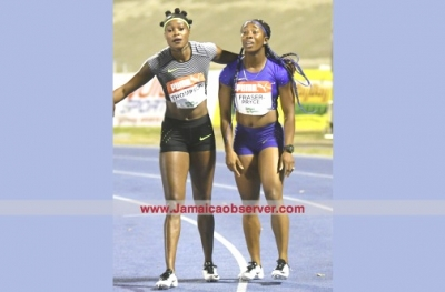 Grange congratulates Thompson and Fraser Pryce