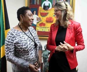 Canadian High Commissioner pays Courtesy Call on Minister Grange