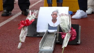 It was Chantea's lane.  The Ministry of Culture, Gender, Entertainment and Sport kept lane 2 in the Class Three girls 100 metres free at the Insports Primary Champs in tribute to the slain Red Hills Road Primary School athlete, Chantea Skyers.  A photo and roses occupied the lane at the start of the event.