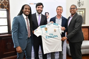 Terrelonge endorses Sandals Real Madrid Kiddies Football Partnership