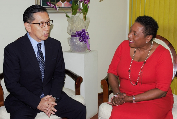 Welcome to Jamaica. The Honourable Olivia Grange, the Minister of Culture, Gender, Entertainment and Sport in conversation with His Excellency Hiromasa Yamazaki, the new Ambassador of Japan to Jamaica. Ambassador Yamazaki paid a Courtesy Call on the Minister earlier today (Wednesday) at her offices in Kingston.