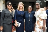 The Honourable Olivia Grange, Minister of Culture, Gender, Entertainment and Sport shares a photo opportunity with Their Excellencies Inés Fors Fernández, Amassador of Cuba to Jamaica; Laurie Peters, High Commissioner of Canada to Jamaica and Janet Omoleegho Olisa, High Commissioner of Nigeria to Jamaica (left to right), at the Ceremonial Opening of Parliament on Thursday, February 15.