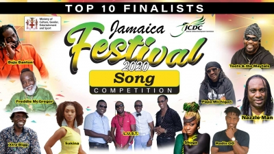2020 Jamaica Festival Song finalists