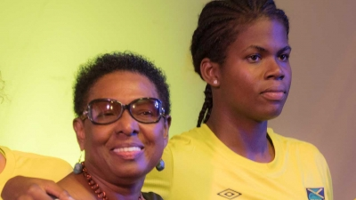 Minister of Culture, Gender, Entertainment and Sport, the Honourable Olivia Grange, CD, MP and Reggae Girl Bunny Shaw