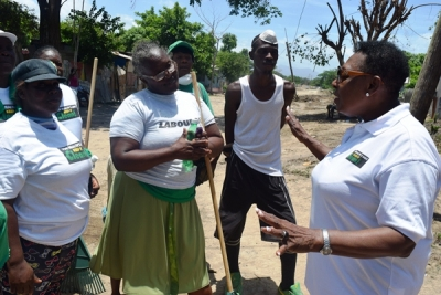 Minister Grange Encourages Clean-up after Labour Day