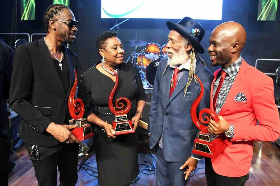 Minister Grange receives JARIA's Lifetime Achievement Award for contribution to the Music Industry