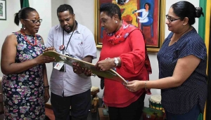 Skateboard Federation Pays Courtesy Call on Minister Grange