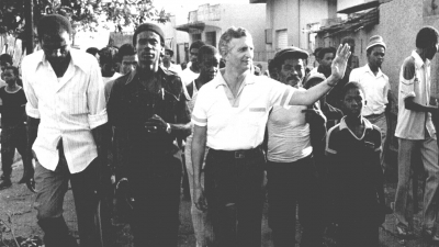 Edward Seaga with constituents in West Kingston