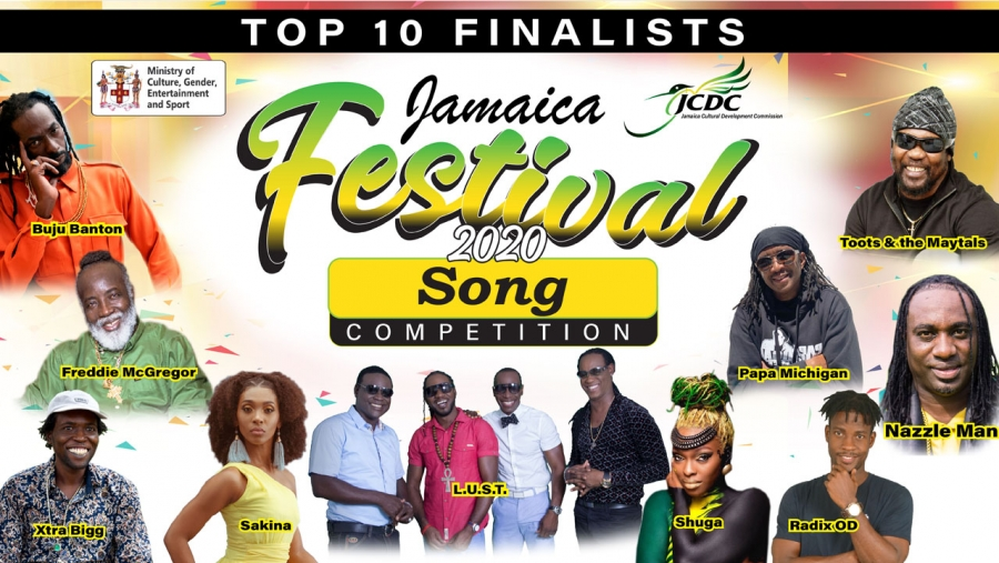 Grange: Jamaica Festival Song entries on worldwide music subscription services
