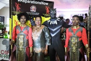 Grange attends Black Panther premiere at Carib 5